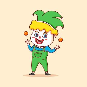 Lustiger clown macht eine show