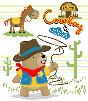 Lustiger cowboy-cartoon