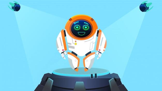 Lustiger designroboter der nächsten generation