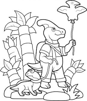 Lustiger dinosaurier