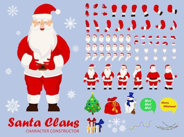 Lustiger glücklicher weihnachtsmanncharakter. fröhliche weihnachten. weihnachtskarte.