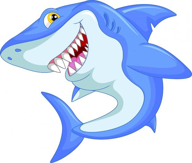Lustiger hai-cartoon
