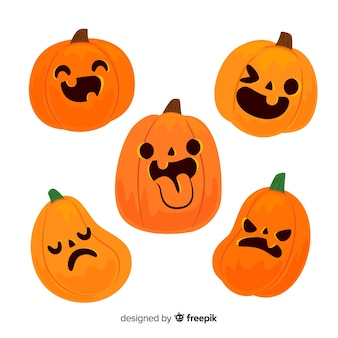 Lustiger halloween-kürbis jacks o laterne