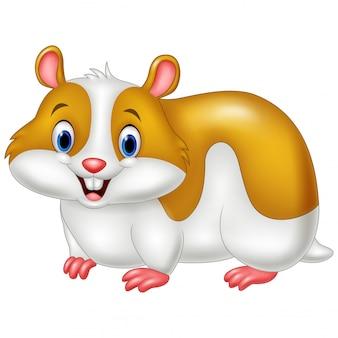 Lustiger hamster der karikatur