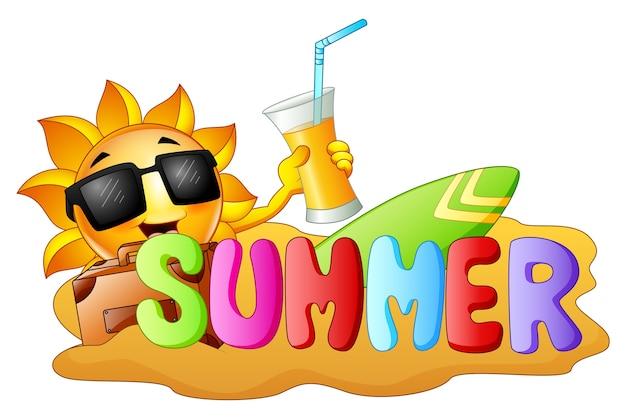 Lustiger hintergrund des sommers
