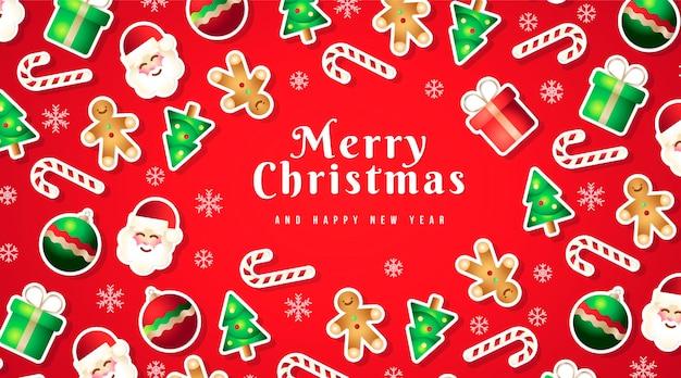 Lustiger hintergrund mit weihnachtselementen