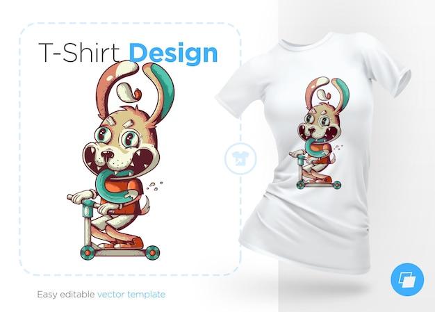 Lustiger hund auf einem tretroller drucke auf t-shirts sweatshirts hüllen für handys