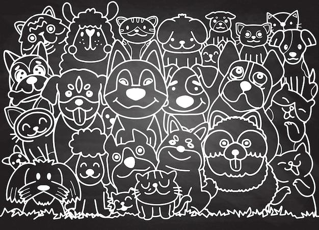 Lustiger hund und niedliche katze beste freunde. fröhlicher freundschafts-tag.