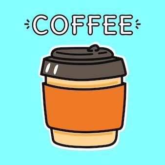 Lustiger kaffee-pappbecher