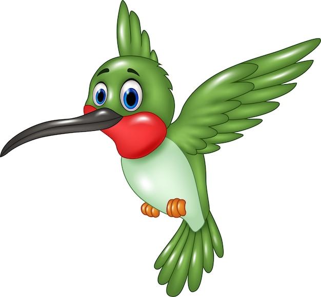 Lustiger kolibri der karikatur