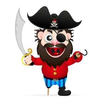 Lustiger pirat der karikatur