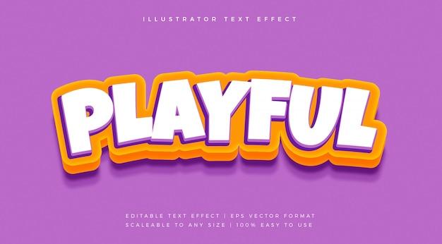 Lustiger spielerischer textstil-schrifteffekt