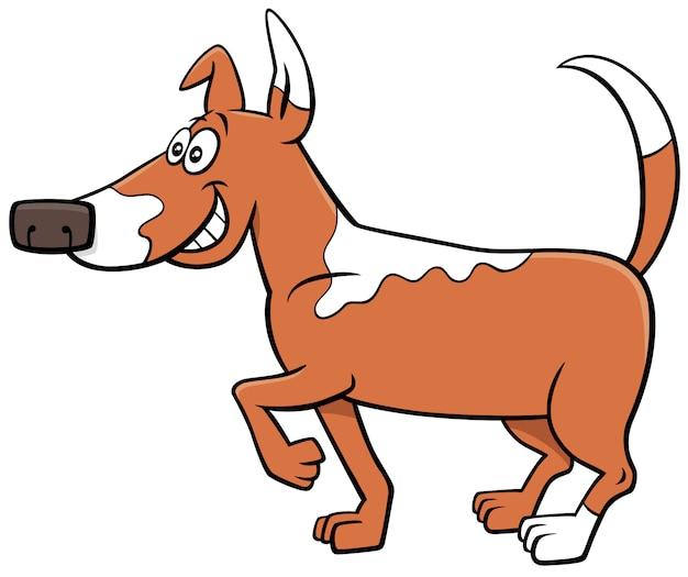 Lustiger tiercharakter des karikaturfleckhundes