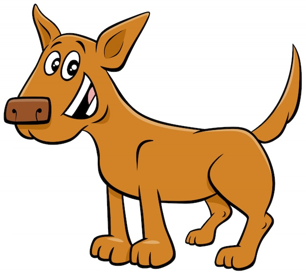Lustiger tiercharakter des karikaturhundes oder des welpen