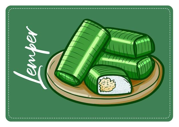 Lustiger und leckerer indonesischer snack namens
