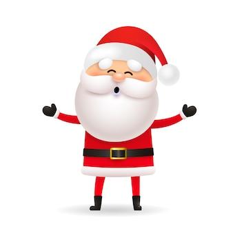 Lustiger weihnachtsmann, der weihnachten feiert