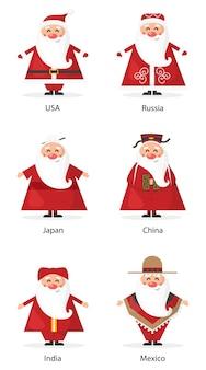 Lustiger weihnachtsmann national