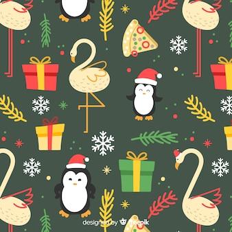 Lustiges buntes weihnachtsmuster