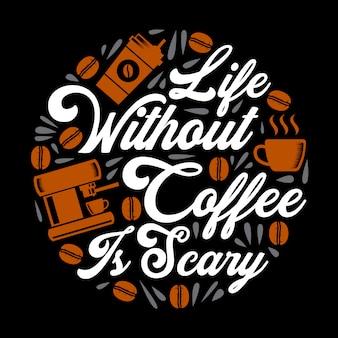 Lustiges kaffee-zitat und sagen