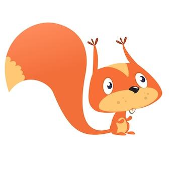 Lustiges karikatureichhörnchen