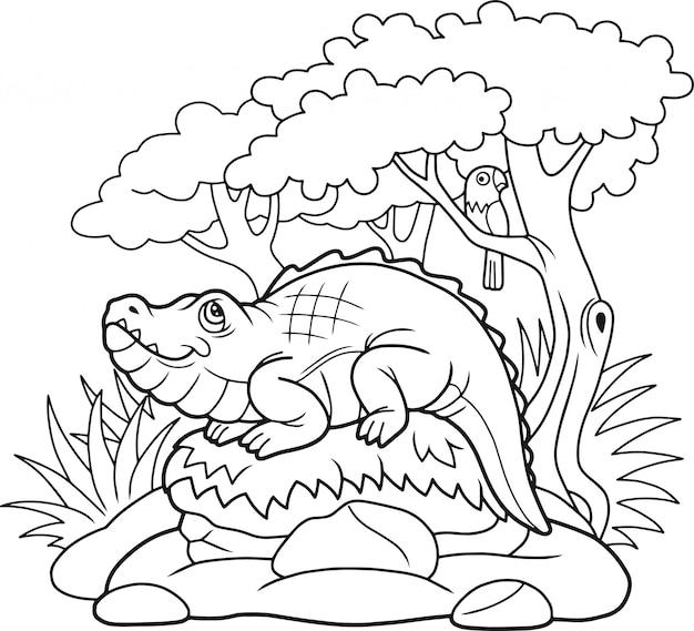 Lustiges krokodil
