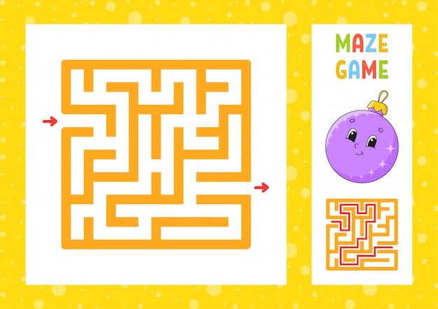 Lustiges labyrinth. spiel für kinder. puzzle für kinder. fröhlicher charakter. labyrinth-rätsel.