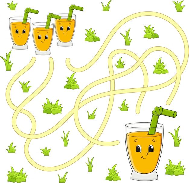 Lustiges labyrinth. spiel für kinder. puzzle für kinder.