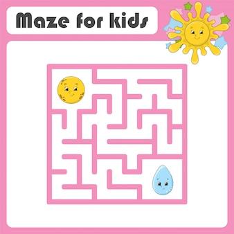 Lustiges labyrinth. spiel für kinder.