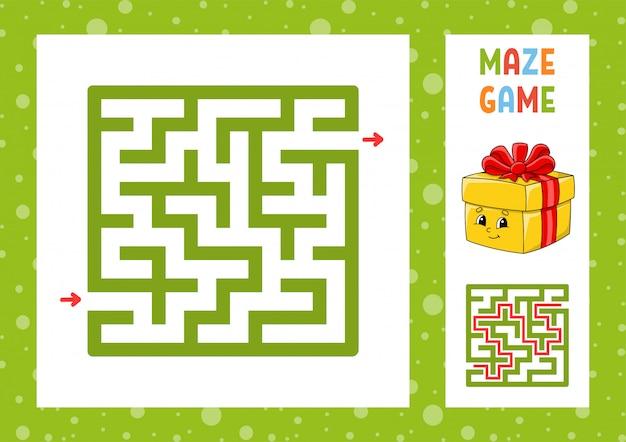 Lustiges labyrinth. spiel für kinder