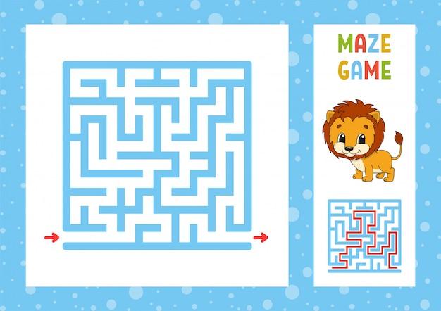 Lustiges labyrinthspiel