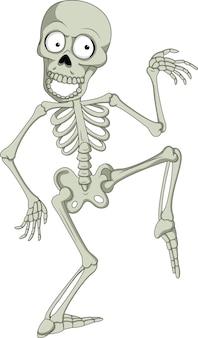 Lustiges skeleton tanzen der karikatur