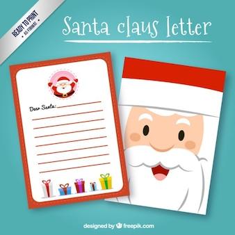 Lustiges weihnachtsmann-schreiben