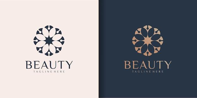 Luxuriöse abstrakte boutique, die schönheit inspiriert