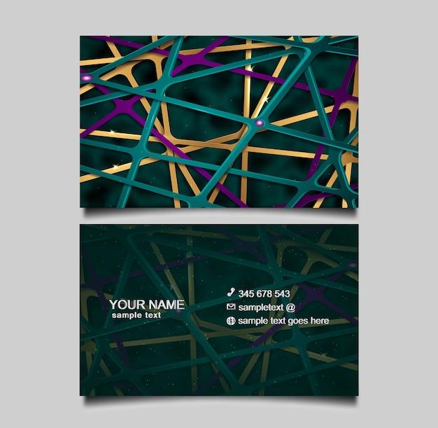 Luxuriöse abstrakte geschäftskartenschablone