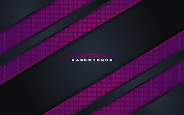 Luxuriöse dunkle hintergrundkombinationen mit violetten linienelement mit overlap textured