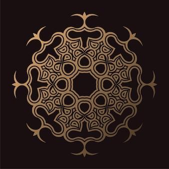 Luxuriöse dunkle mandala-hintergrund-design-vorlage