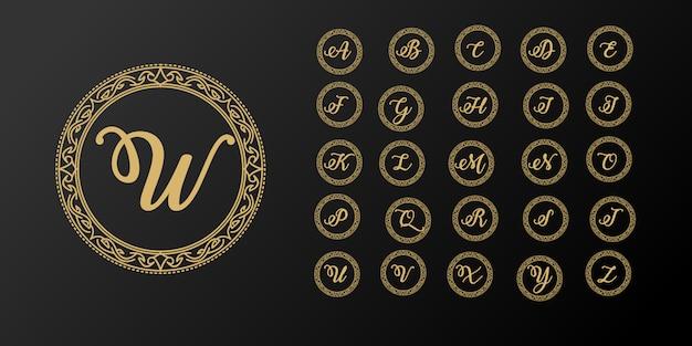 Luxuriöse elegante anfangsbuchstabenlogoschablone