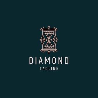 Luxuriöse golddiamant-logo-symbol-design-vorlage-vektor-illustration