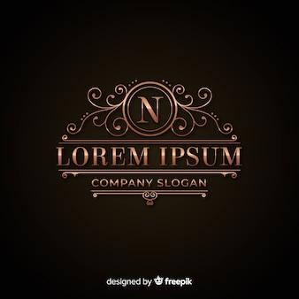 Luxuriöse goldene logo-vorlage