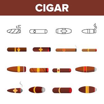 Luxuriöse kubanische zigarre beleuchtet
