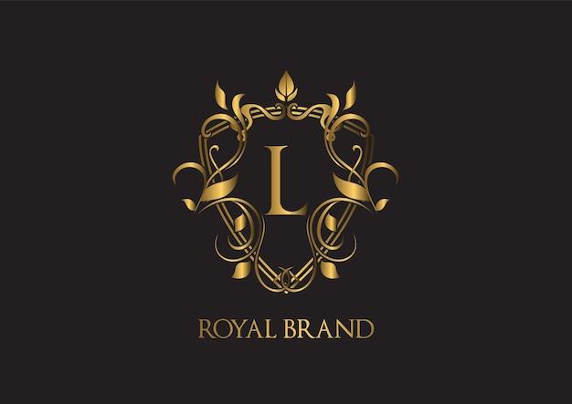 Luxuriöse logo-vorlage.