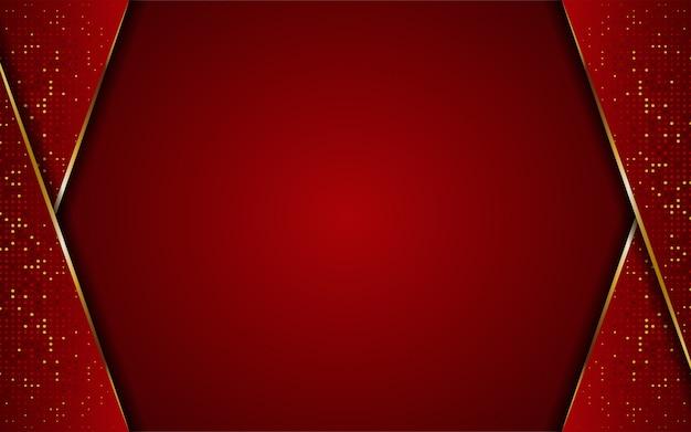Luxuriöse moderne abstrakte rote und goldene linien hintergrund. eleganter moderner hintergrund.