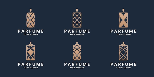 Luxuriöse parfüm-logo-design-kollektionen