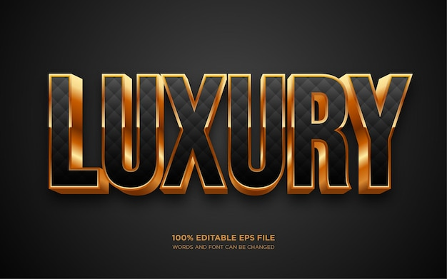 Luxuriöser 3d-texteffekt in gold gold