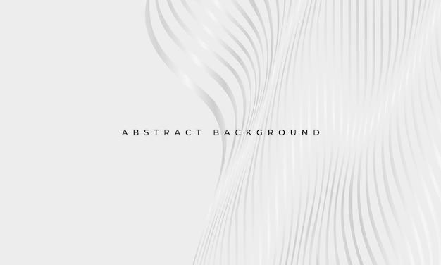 Luxuriöser abstrakter geometrischer eleganzhintergrund mit silbernen gewellten leuchtenden linien