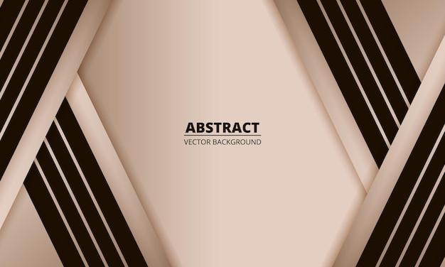 Luxuriöser abstrakter moderner roségoldhintergrund mit braunen linien und schatten