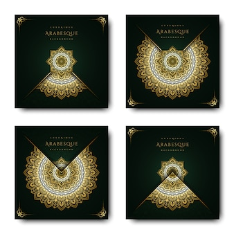 Luxuriöser arabeskenhintergrund mit goldmandalaartkunst