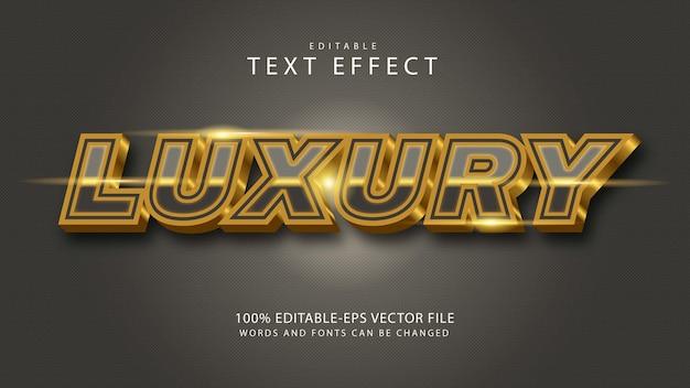 Luxuriöser bearbeitbarer texteffekt