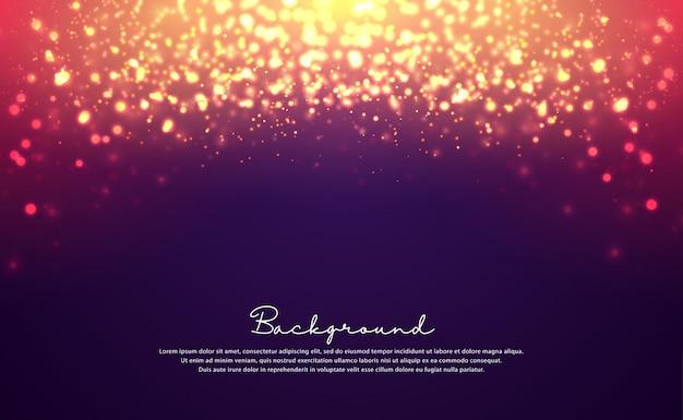 Luxuriöser bokeh-glitterhintergrund.