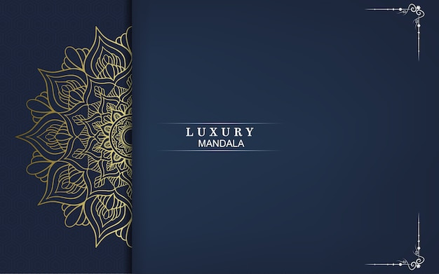 Luxuriöser dekorativer goldener mandala-hintergrund, arabeskenart.